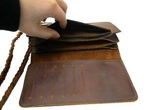 Men/'s Business Vintage Leather Wallet Credit Card Holder Billfold Purse Clutch