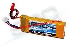 PACCO BATTERIA LIPO SRC 1500MAH 7.4V RX 1/10 1/8 82X30X11.5 62 GRAMMI