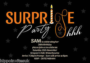 Image Is Loading Surprise Birthday Party Invitations Shhh X 12
