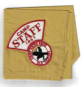 1957-Camp-Raven-Knob-Staff-Neckerchief-Old-Hickory-Wahissa-HT232