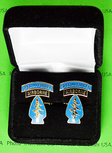 SPECIAL-FORCES-AIRBORNE-Army-Cuff-Links-in-presentation-gift-box-cufflinks