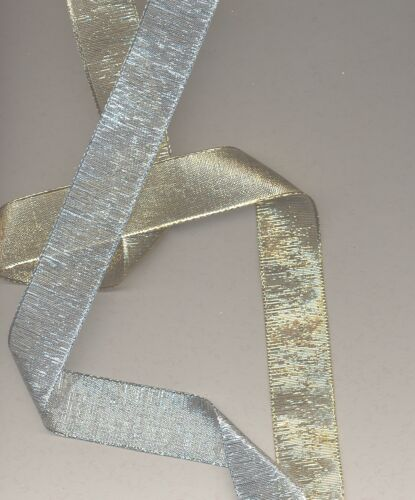 2 mètres de Ruban métallisé 25 mm 2 meters of Metallic Ribbon 25 mm