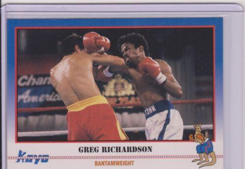 1991 KAYO GREG RICHARDSON BOXING CARD #232 ~ YOUNGSTOWN OH