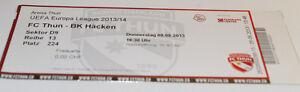 ticket-for-collectors-EL-FC-Thun-BK-Hacken-2013-Switzerland-Sweden