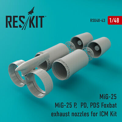 ResKit RSU72-0027 Mitsubishi F-1//T-2 exhaust nozzles for Platz Upgrade set 1//72