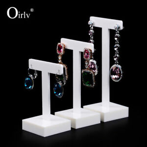 Image Is Loading Oirlv White Acrylic Earring Display Holder With T
