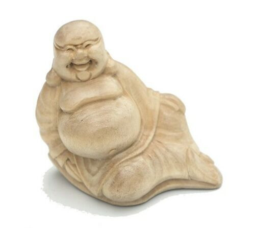 Super schöner Miniatur BUDDHA Happy Feng Shui liegend BMini02