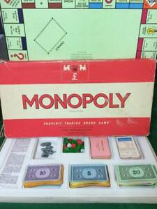 Vintage-039-Red-Box-Monopoly-039-Spares-Select-which-you-want-from-drop-down-menu