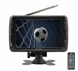 """Milanix 7"""" Portable Widescreen LCD TV w/ Digital TV Tuner & USB, SD Slot & AV In"""
