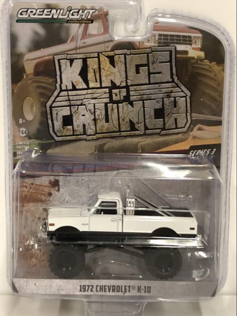 1972 Chevrolet K-10 Monster Truck Kings of Crunch Series 1:64 Greenlight 49030C