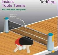 Instant Extendable Full Size Table Tennis Game Set With Net Bats & Balls - 21044