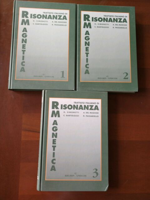 Trattato italiano di Risonanza Magnetica, 3 volumi, Idelson-Gnocchi, 1998