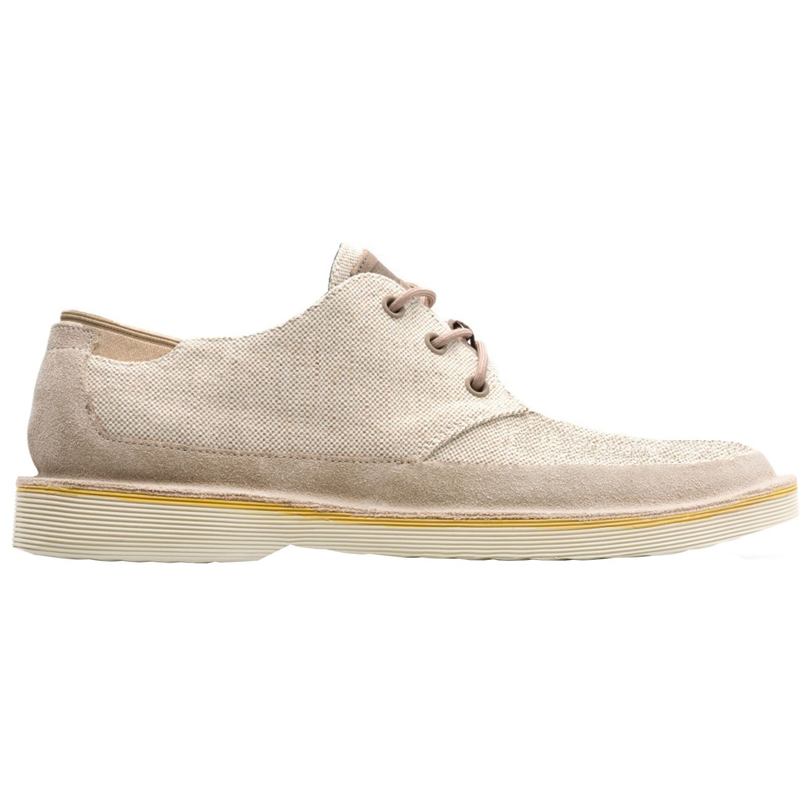 Camper Morrys 100088 Havana Nature Mens Canvas Suede Lace-Up Casual shoes