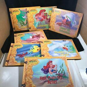 Lot of 7 Disney The Little Mermaid's Treasure Chest Books