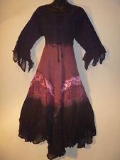 Dress Fits XL 1X  Renaissance Christmas Black Pink Corset Lace Up Chest NWT 603