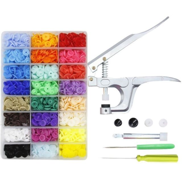 150Pcs Mixed Plastic Resin Fastener Snaps Buttons For Diaper Clothes Crafts