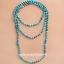 6mm-Blue-Sea-Sediment-Jasper-Round-Knot-Layering-Long-Necklace-For-Women-Z0189 thumbnail 1