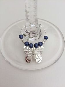 20 Royal Blue Wedding Wine Glass Charms. Favours, Hens, Party | eBay