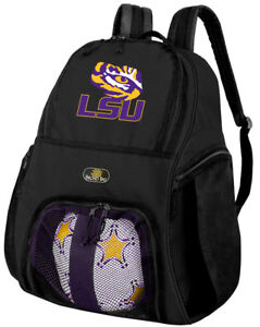 Image Is Loading Lsu Soccer Backpack Or Volleyball Bag Ball