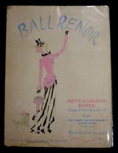 Dessin-original-de-l-039-affiche-Ball-Renoir-Ritz-Carlton-Hotel