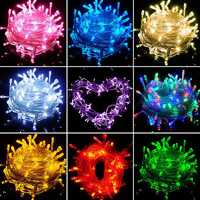10M/20M 100/200 LED String Fairy Lights Bulbs Party Xmas Tree Decor Waterproof
