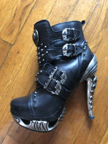 Boots Heels New Rock Shoes Leather Studds Platform