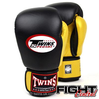 Boxing FREE P/&P MMA Twins Boxing Gloves Muay Thai Black//White