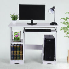 Modern Computer Desk Pc Workstation Study Table Home Office Writing Table White