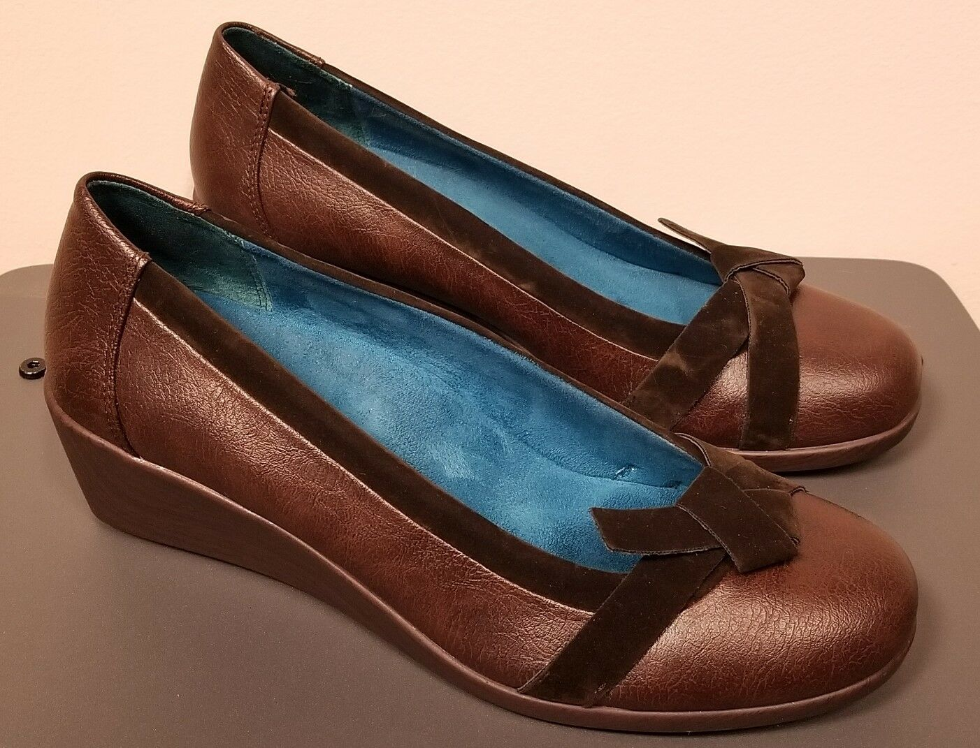 "VIONIC Orthaheel With Orthaheel VIONIC Technology Braun ""48 Chloe"" Wedge Heels / Schuhes 9.5 M EUC 57b7df"