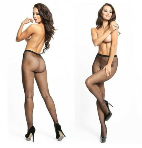 missO OPEN CROTCH FISHNET TIGHTS  IN BLACK 2 SIZES P602
