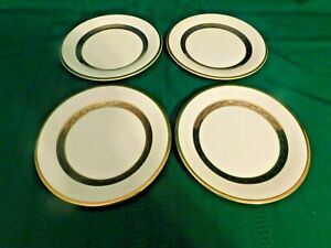 I2-Royal-Doulton-England-Harlow-Bone-China-Bread-Dessert-Plates-Lot-of-4