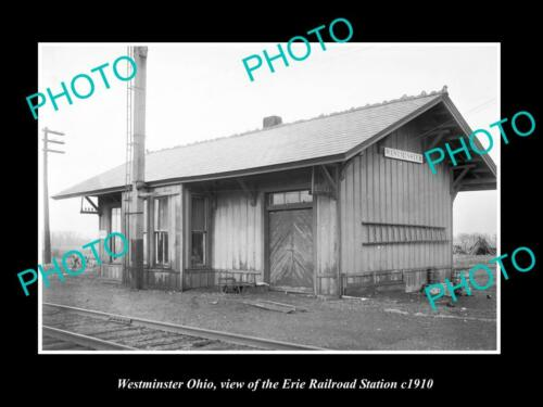 OLD 6 X 4 HISTORIC PHOTO OF WESTMINSTER OHIO, ERIE RAILROAD STATION c1910 1