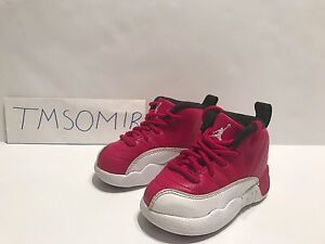 quality design 05886 7e3fe Details about Air JORDAN XII 12 RETRO baby size 5C white varsity red flu  infant