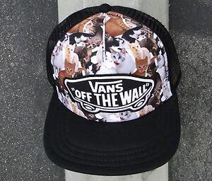 d688396ac0 Van Off the Wall Women s x ASPCA Beach Girl Trucker Hat Cap - Cat ...
