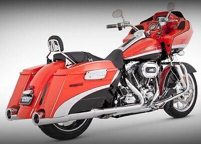 VANCE-amp-HINES-4-5-034-HIGH-OUTPUT-EXHAUST-SLIP-ON-MUFFLERS-HARLEY-FLHX-STREET-GLIDE