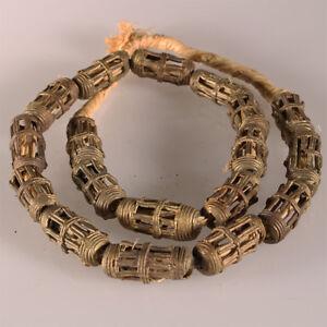 9423-D-Halskette-bestehend-aus-18-Akan-Messing-Perlen