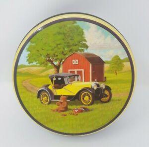 Old-Metal-Cookie-Container-Bear-eating-cookies-in-a-field-Used-Fresh-Beginnings