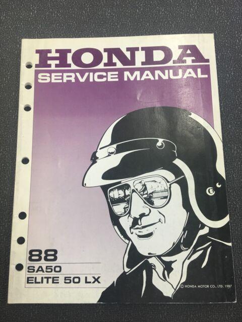 Honda Service Manual 1988 Sa50 Elite 50 Lx