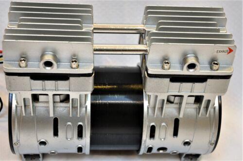 Twin Piston Oil-less Dry Run Vacuum Pump//Compressor 5CFM Epoxy CNC Table Medical