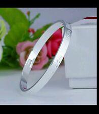 Openable 925 sterling silver bangle bracelet girl friend lady men lover gift new