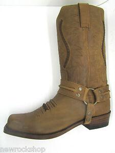 2cbca9831ec Details about Sendra 12209 Men Cowboy Boots Bike Brown Leather Western  Biker Boot