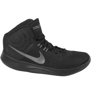 dc23fca3563 Nike Air Precision Nbk Mens UK 11.5 Black Basketball Shoes Trainers ...