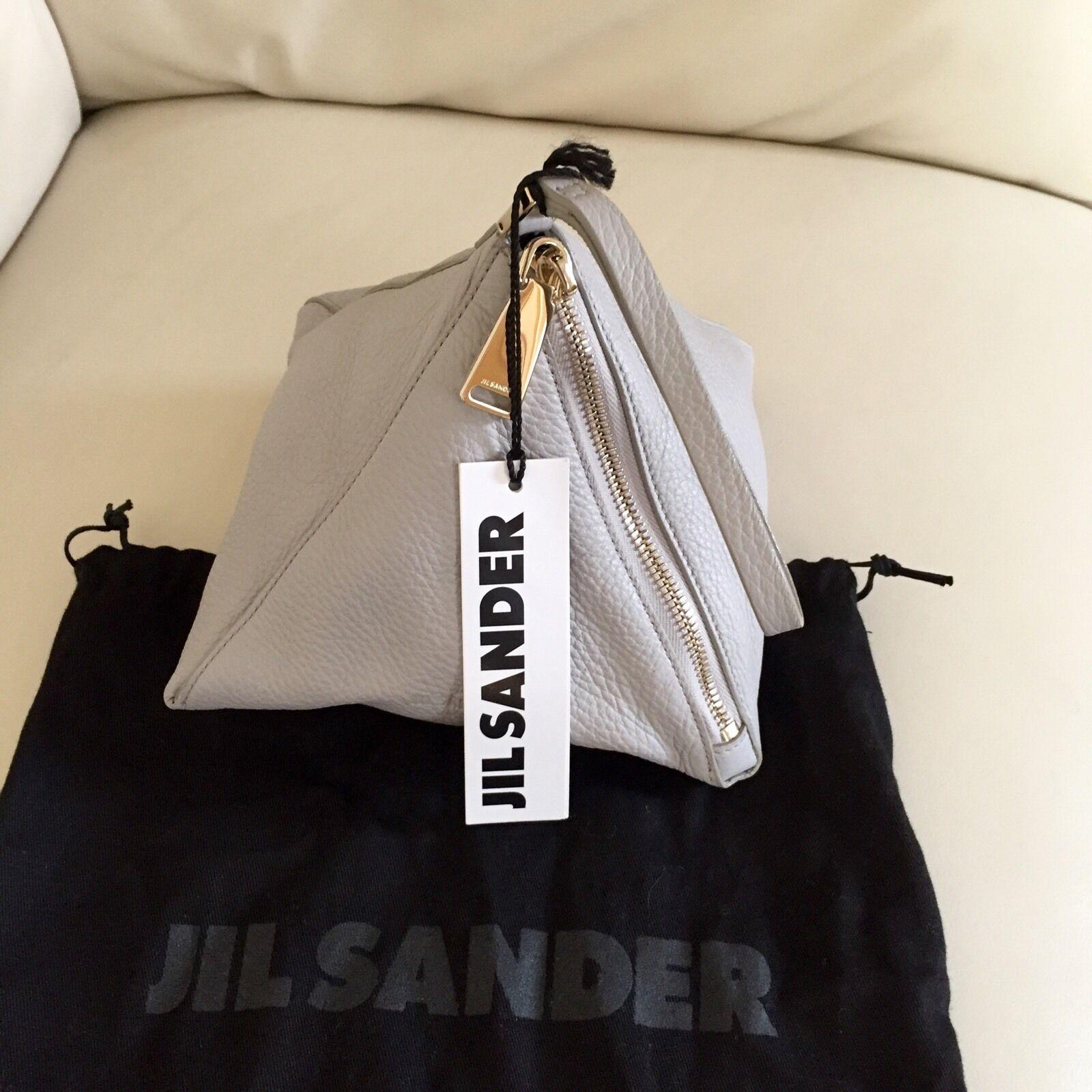 Neu  Jil Sander Sander Sander Leder Pyramide Clutch | Preisreduktion  | Überlegen  | Schön geformt  84dd99