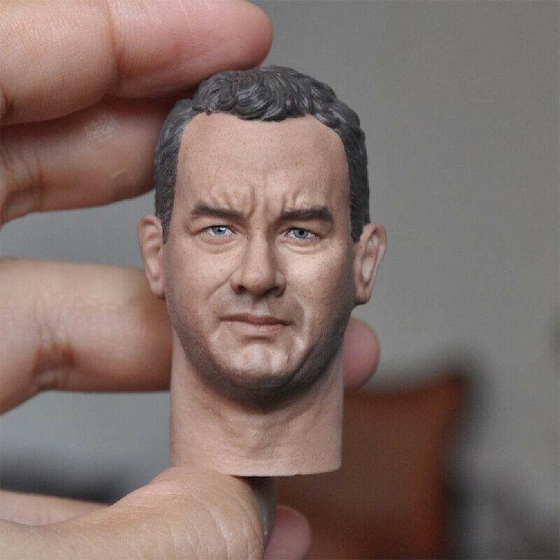 "Blank Hot 1//6 Scale Saving Private Ryan Tom Hanks Head Sculpt Unpainted Fit 12/"""