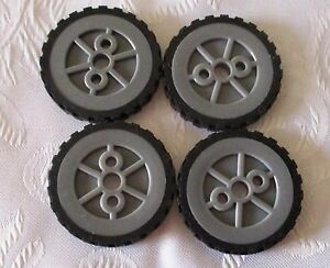 K'NEX Hub/Pulley Small & K'NEX Tyre Small X 4 Pieces ...