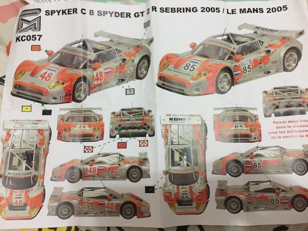 1 43 Provence Miniatures Spyker C8 GT2R Sebring Le Mans LM BBR MR Starter PM