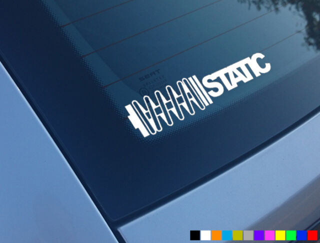 STATIC CAR STICKER FUNNY COILOVERS LOW SLAMMED JDM DUB VW POLO DECAL BUMPER