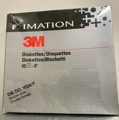"3M 8/"" Wang Compatible Floppy Disks Diskettes SS SD 32 RH DC 051111 10 Pack"