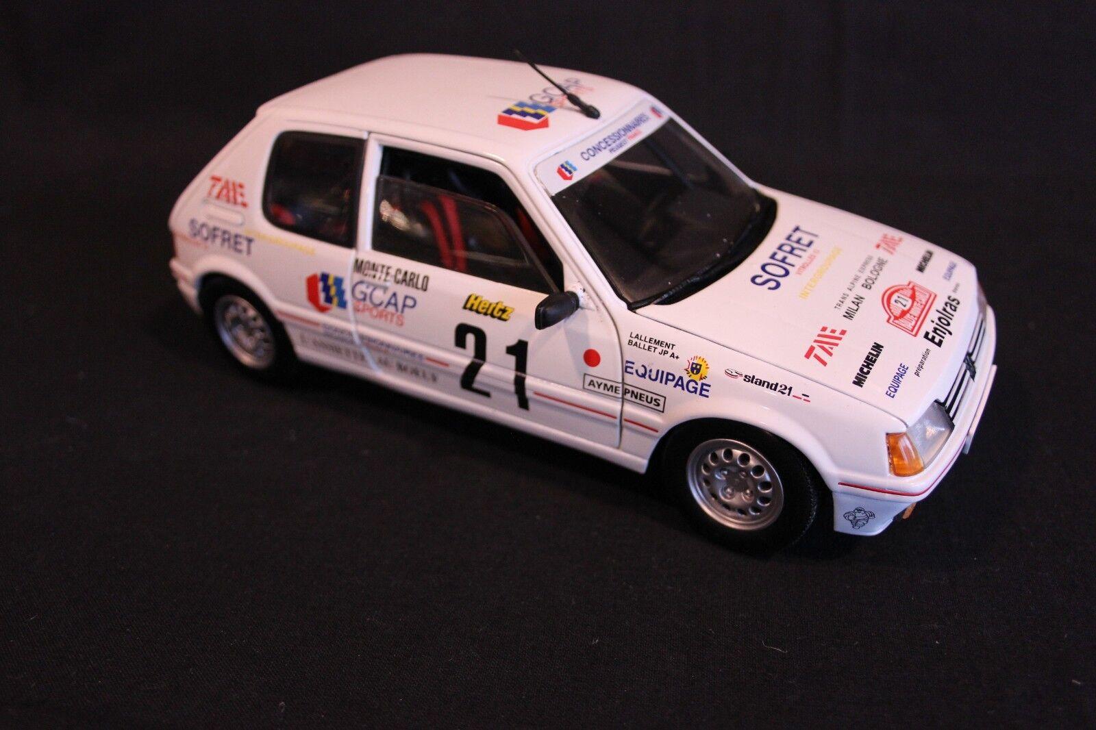 en stock Solido Peugeot 205GTi 1988 1 18 18 18  21 Ballet   Lallement Rallye Monte-Cochelo (AK)  Envío 100% gratuito