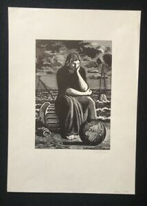 Karl-Rossing-Ohne-Titel-chiave-in-legno-1935-a-mano-firmato-e-datato